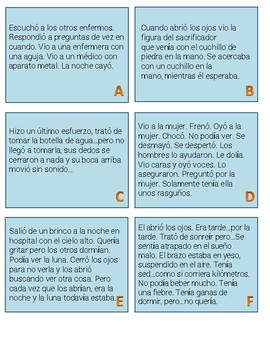 La Noche Boca Arriba Embedded Readings and Activities (level 4)