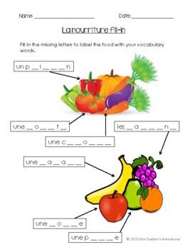 La Nourriture - BEGINNER FRENCH Food-Themed Unit (Grade 4-7)
