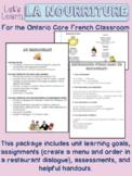 La Nourriture Core French Food Activities (Ontario) Assess