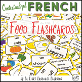La Nourriture French Food Contextualized Flashcards