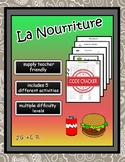 La Nourriture - French Vocabulary Activities
