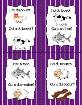 La Nourriture - Les Viandes J'ai...Qui a?