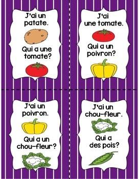 La Nourriture - Les Légumes J'ai...Qui a?