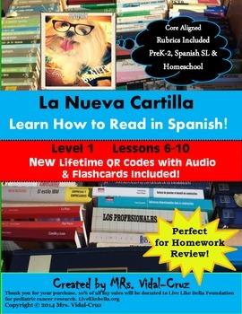 La Nueva Cartilla- Learn How to Read in Spanish  Level 1 L