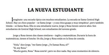 La Nueva Estudiante - Comprehensible Gustar Story