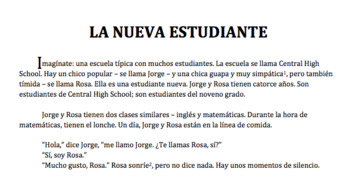 La Nueva Estudiante - Comprehensible Gustar Story