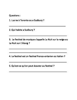 La Nuit Sur L'Etang franco-ontarien festival french activities ontario curiculum