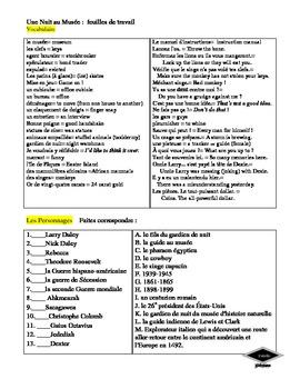 La Nuit au Musée movie guide and verb exercises