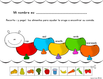 La Oruga de Colores (Spanish Color Names)