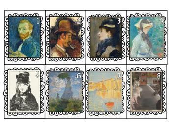 La PEINTURE IMPRESSIONNISTE française-Cartes de jeu