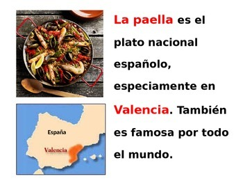 La Paella with  cooking video to practice  vocab and commands