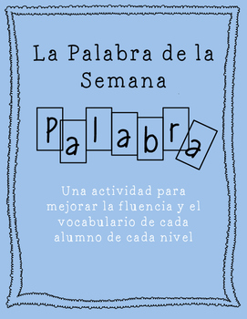 La Palabra de la Semana - Word of the Week Spanish
