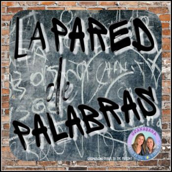 WORD WALL Sign in Spanish: La Pared de Palabras en Pared de Ladrillos