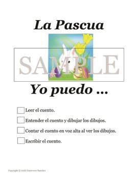 La Pascua Cuento - casa, preposiciones de lugar - leer, dibujar, escribir