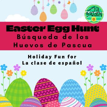 La Pascua (Easter) - Busqueda de los huevos de la Pascua (Easter Egg Hunt)