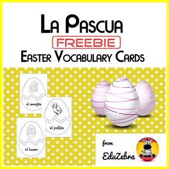 Easter vocabulary cards in spanish la pascua tarjetas de vocabulario m4hsunfo