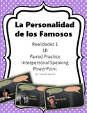 Spanish Personality Traits- Realidades 1 - 1B- Speaking Activity