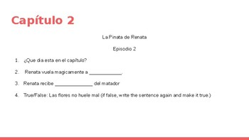 La Pinata de Renata (Complete Novel Study)