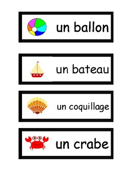 La Plage - French Vocabulary Activities