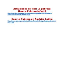 La Pobreza IPA style reading activities