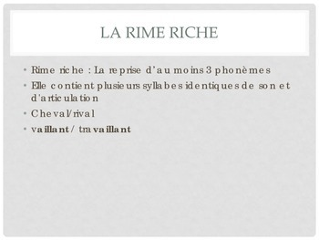 La Poesie: Rhyme Schemes in French