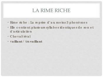 La Poesie: Rhyme Schemes in French