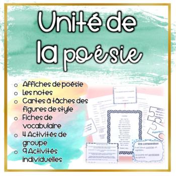 La Poésie - Unité de notes et exercices