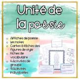 BUNDLE: La Poésie - Unité de notes et exercices (Distance