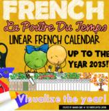 La Poutre Du Temps |  Linear French Calendar | French Immersion