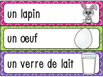 GRATUIT Pâques - 30 mots de vcabulaire - French Easter
