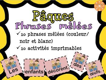 Pâques - Phrases mêlées/French Easter scrambled sentences