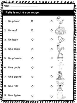 Pâques - cahier d'activités - French Easter activities