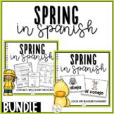 Spring in Spanish Activity Pack Bundle - La Primavera
