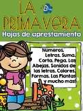 La Primavera Hojas de Aprestamiento Preescolar