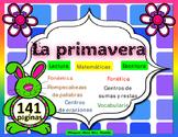 La Primavera  Mini Unidad Centros Matematicas Palabras Ora