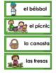 La Primavera  Spring Vocabulary Cards, Writing Center, Wor