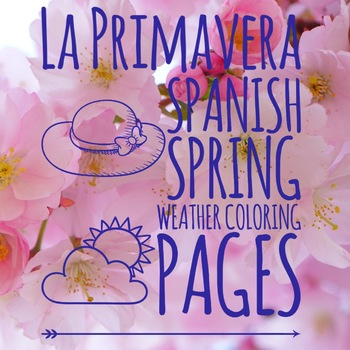 La primavera, Spring Weather Coloring Pages in Spanish by Hola Llama