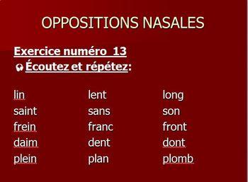 La Prononciation du français