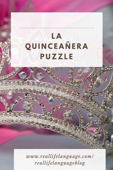 La Quinceañera Crossword Puzzle and Word Search