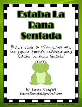 La Rana Song picture cards