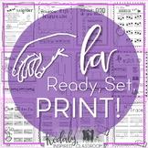 Music Worksheets for La {Ready Set Print!} #springsongs
