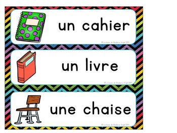 Rentrée Scolaire:  Back to School Vocabulary Activities in French