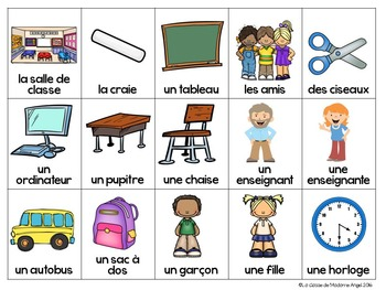Rentrée Scolaire:  Back to School Bingo Game in French