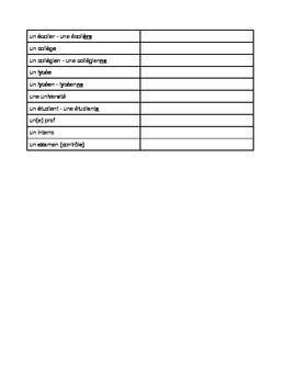 La Rentrée Scolaire - Verbs & Vocabulary