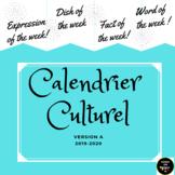 La Rentrée 2018 2019 Calendar- French Culture, Idiomatic e
