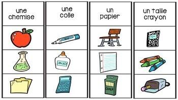La Rentrée Scolaire - Jeu d'association - French Back to School