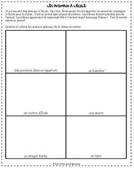 Core French: La Rentree Back-to-School Activities