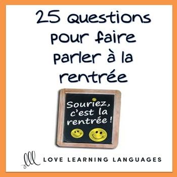 La Rentrée Scolaire French Task Cards - Beginner French Level - Cartes à Tâches