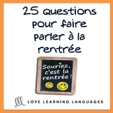 La Rentrée Scolaire French Task Cards - Beginner French Le