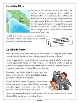 La Rome antique - Reading & Activity Pages (*FRENCH*)